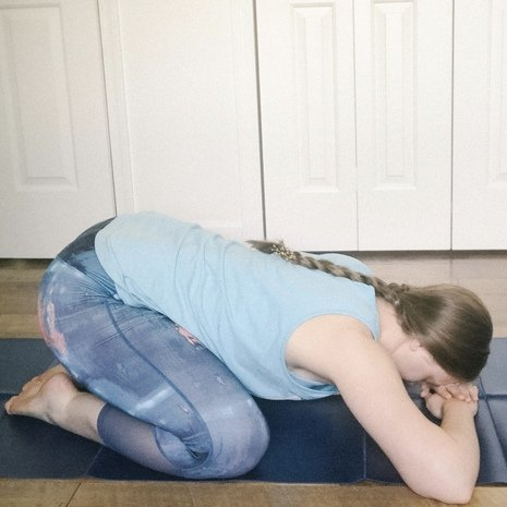 child's pose for tailbone pain in pregnancy